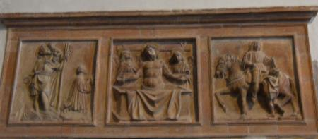 Trittico in terracotta